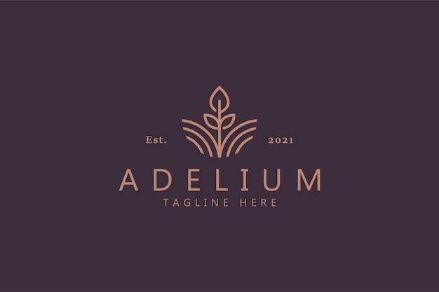 Bloem abstract symbool van schoonheid. vrouwelijk premium logo merkidentiteit. natuurlijk, tuin, spa, sieraden, modeproduct en zakelijke sjabloon.