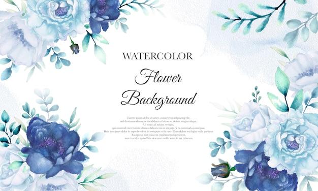 Bloem aquarel krans met prachtige bloemen