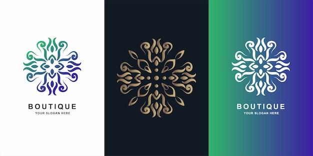 Bloem, boetiek of ornament logo sjabloonontwerp.