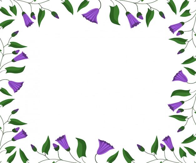 Bloem frame. bloemen en bladeren van de akkerwinde.