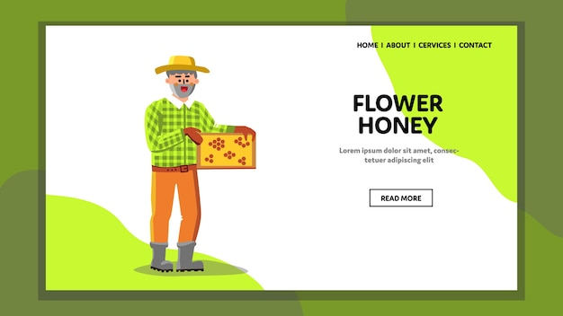 Bloem honing bio product holding imker