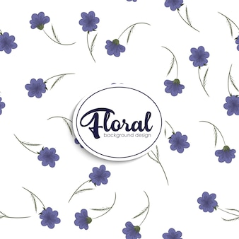 Bloem illustratie patroon. floral vector