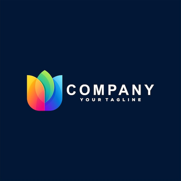 Bloem kleurverloop logo