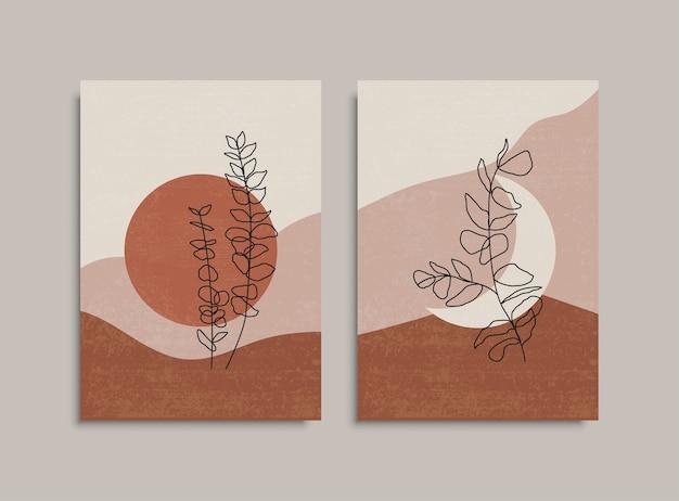 Bloem lijntekening. creatieve mode. doorlopende lijntekening art. mode kunst. ontwerp met één lijntekening. abstracte minimale botanische kunst. voorraad.