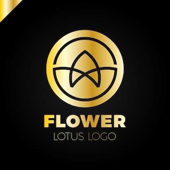 Bloem logo cirkel abstract ontwerp vector sjabloon. lotus spa-pictogram. cosmetica hotel garden schoonheidssalon logo concept.