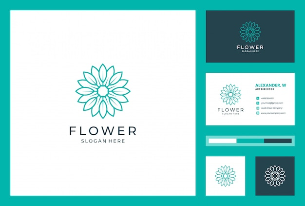 Bloem logo ontwerp met lijn kunststijl. logo's kunnen worden gebruikt voor spa, schoonheidssalon, decoratie, boetiek, wellness, bloei, botanisch en visitekaartje