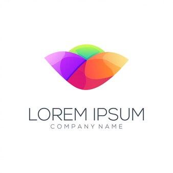Bloem logo ontwerp vector abstract