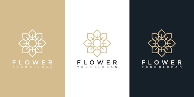 Bloem logo ontwerpsjabloon op verschillende kleuren