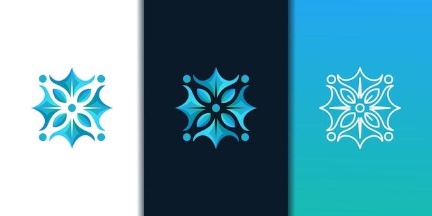 Bloem logo ontwerpsjabloon