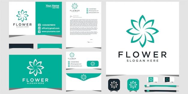Bloem logo schoonheid met briefpapier