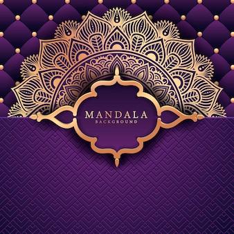 Bloem luxe mandala achtergrond arabesk stijl