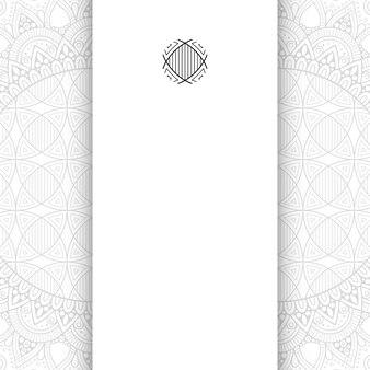 Bloem mandala. eenvoudige mandala achtergrond met kopie ruimte.