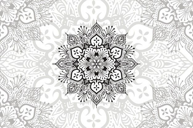 Bloem mandala. vintage decoratieve elementen. oosterse patroonillustratie.