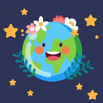 Bloem met aardedag