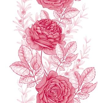 Bloem naadloos patroon met rozen.