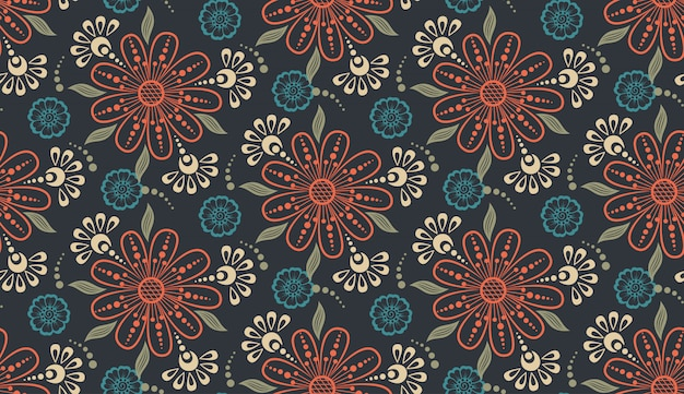 Bloem naadloze patroon achtergrond. elegante textuur voor achtergronden.
