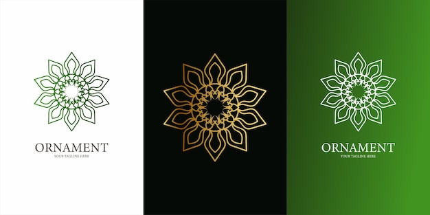 Bloem, ornament of mandala embleemontwerp sjabloon. ent logo sjabloonontwerp.