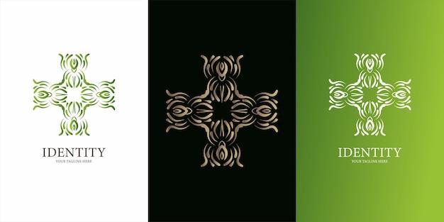 Bloem, ornament of mandala logo sjabloonontwerp. ent logo sjabloonontwerp.