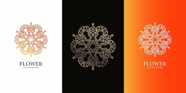 Bloem, ornament of mandala logo sjabloonontwerp.