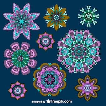 Bloem ornamenten vector gratis