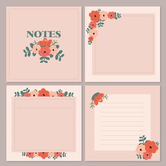 Bloem papier lege notities instellen