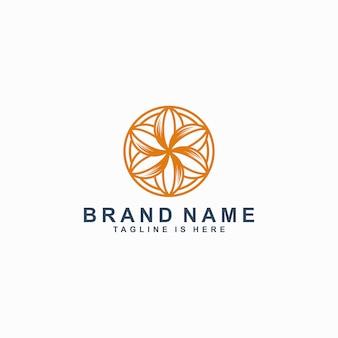 Bloem pictogram lijn kunst logo sjabloon vectorillustratie