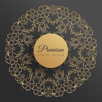 Bloem stijl decoratief mandala ontwerp