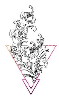 Bloem tatoeage