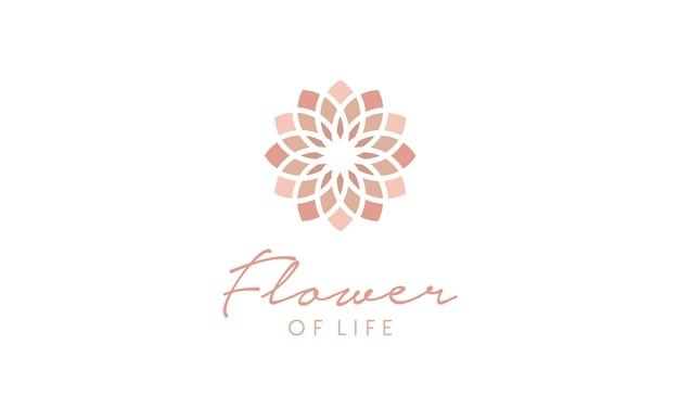Bloem van het leven patroon logo