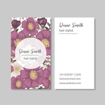Bloem visitekaartjes hete roze bloemen