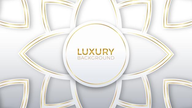 Bloem witgoud luxe achtergrond