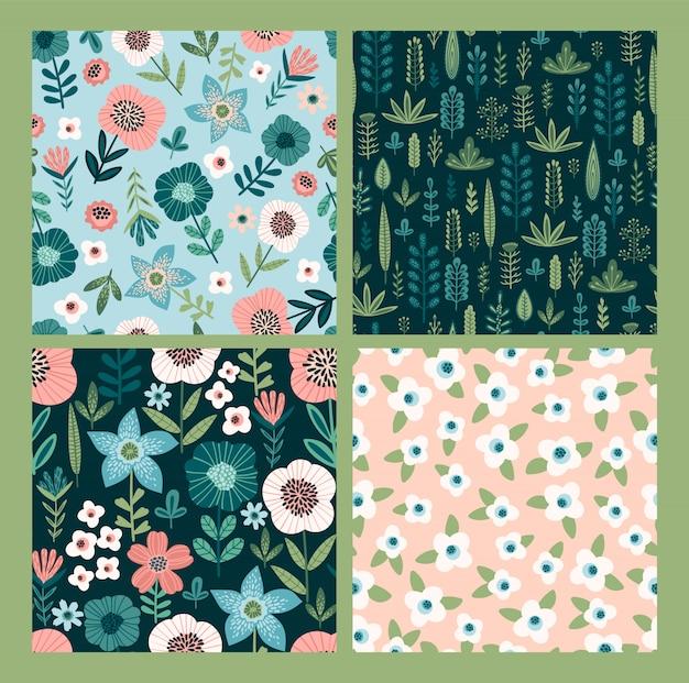 Bloemen abstracte naadloze patronen.