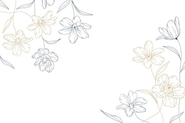 Bloemen achtergrond graveren
