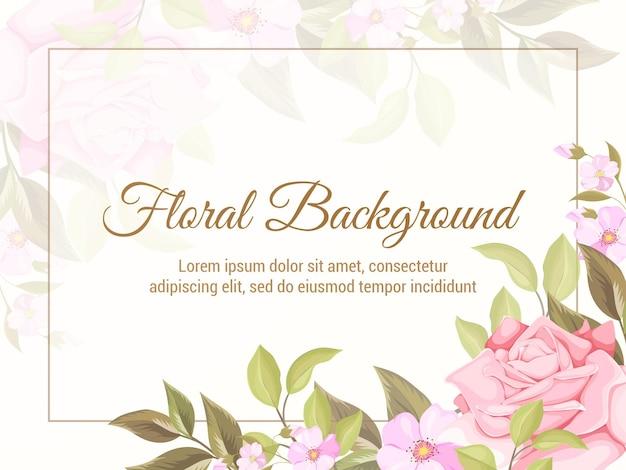 Bloemen achtergrond sjabloon