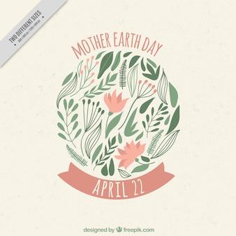 Bloemen achtergrond voor moeder aarde dag