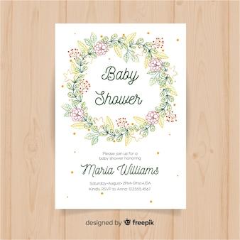Bloemen babydouche sjabloon
