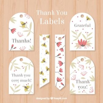 Bloemen bedankt labels collecti