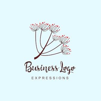 Bloemen bedrijfslogo