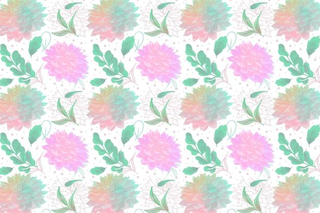 Bloemen behang met zachte kleuren