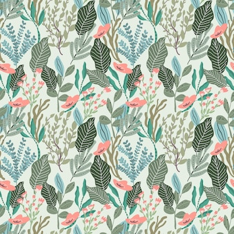 Bloemen bladeren tuin naadloze patroon