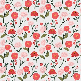 Bloemen bloem naadloze patroon achtergrond