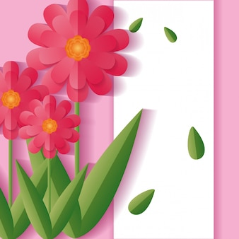 Bloemen bloemenframe als achtergrond