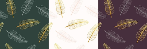 Bloemen boeket vector patroon met bladeren
