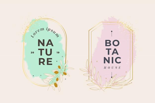 Bloemen botanisch kader