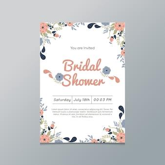 Bloemen Bruids Douche Uitnodiging