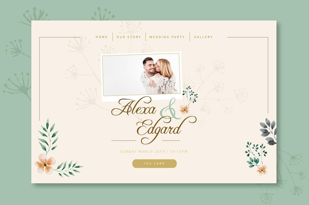 Bloemen bruiloft bestemmingspagina