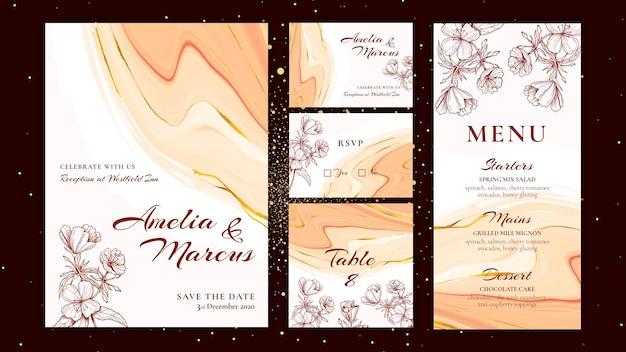 Bloemen bruiloft collectie