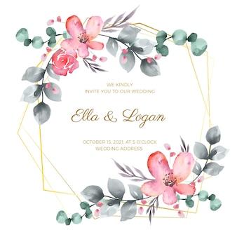 Bloemen bruiloft frame