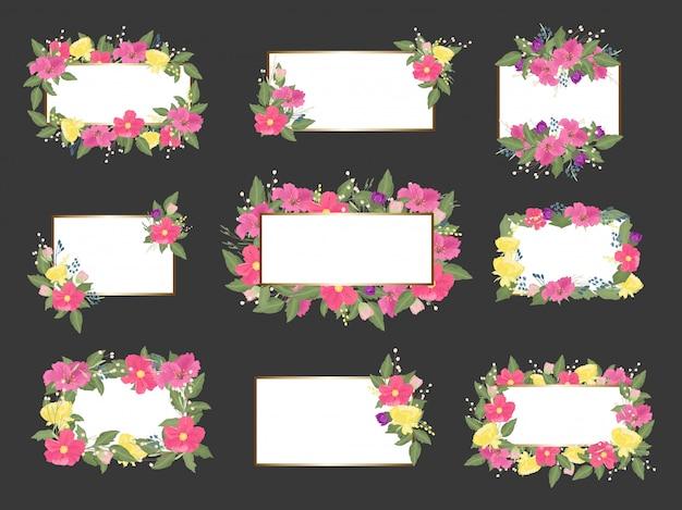 Bloemen bruiloft kaart collectie