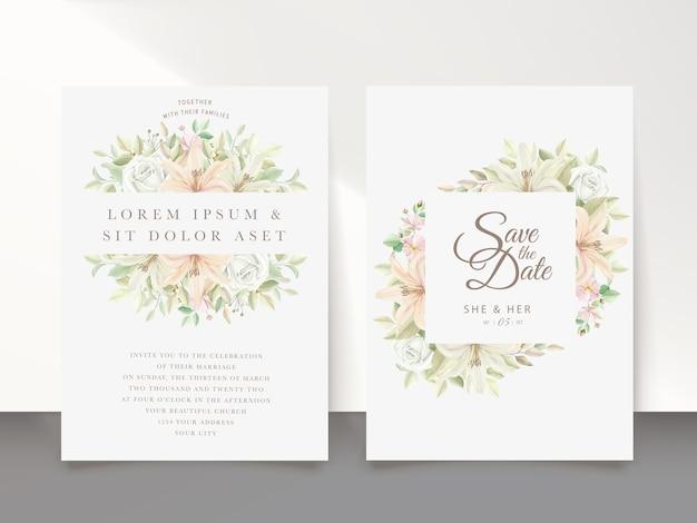Bloemen bruiloft kaart